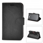 FLOWER SHOW Protective PU Leather Case for Samsung Galaxy i9082 - Black