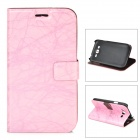 FLOWER SHOW Protective PU Leather Case for Samsung Galaxy i9082 - Pink