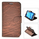 FLOWER SHOW Protective PU Leather Case for Samsung Galaxy S4 i9500 - Coffee