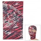 Acacia Skull Pattern Seamless Polyester Head Scarf for Men - Red + Black