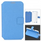 Silk Texture PU Leather Case for Samsung Galaxy Note 2 - Blue