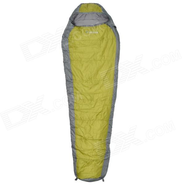 HARLEM HL-255 Outdoor Dual-Layers Thicken Camping Sleeping Bag - Green + Grey