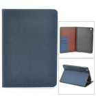 Protective Flip Open PU Leather + Plastic Case w/ Stand / Card Slots for Retina Ipad MINI - Sapphire