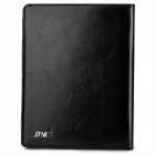 DMT Protective Flip Open Leather Case w/ Stand / Card Slots for Ipad 2 / 3 / 4 - Black