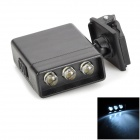 Mini 3-LED 90lm White Light Fishing clip cap lampe (2 x CR2032 / 3V)