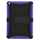 2-in-1 Protective TPU + PC Back Case w/ Stand for Ipad AIR - Black + Purple
