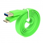 USB to Micro USB 3.0 9-Pin Data/Charging Flat Cable for Samsung Galaxy Note 3 N9000 - Green (100CM)