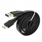 USB to Micro USB 3.0 9-Pin Data/Charging Flat Cable for Samsung Galaxy Note 3 N9000 - Black (100CM)