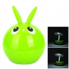 Cute Frog Rabbit Style 15-LED 2-Mode White Light Rechargeable Desk Lamp - Green