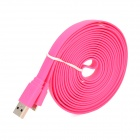 USB to Micro USB 3.0 9-Pin Data/Charging Flat Cable for Samsung Note 3 N9000 - Deep Pink (300CM)