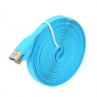 USB to Micro USB 3.0 9-Pin Data/Charging Flat Cable for Samsung Galaxy Note 3 N9000 - Blue (300CM)