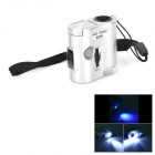 MaiFeng 9592 60X Mini Jewelry LED Lighted Microscope w/ Currency Detecting - Black + Silver