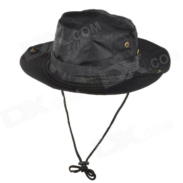 Casual Outdoor Sports Camping Fishing Cotton Hat - Black