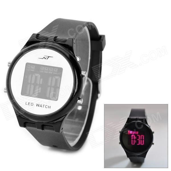 Sport Acrylic Resin Dial Plastic Case LED Digital Wrist Watch w/ Stopwatch - Black (1 x AG10)