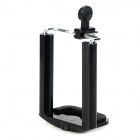 "1/4"" Screw Nut Plastic Desktop Cellphone Holder for MP4 / GPS / Iphone 4 / 5 / Samsung - Black"