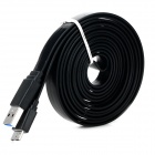 Micro-B USB 3.0 Data Charging Flat Cable for Samsung Galaxy Note 3 / N9000 - Black (2m)