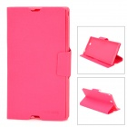 MEILAITE LX-39MLT Oracle Series Protective PU Leather Case for Sony XL39h Xperia Z Ultra - Deep Pink