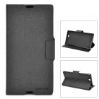 MEILAITE LX-39MLT Oracle Series Protective PU Leather Case for Sony XL39h Xperia Z Ultra - Black
