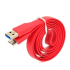 USB 2.0 to Micro USB 3.0 9-Pin Data/Charging Flat Cable for Samsung Note 3 N9000 - Red (100CM)