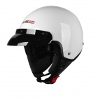 LS2 021 Retro Motorcycle Electrocar Warm Helmet - White (Size XL)