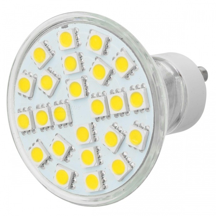 JR GU10 4W 260lm 3500K 24-5050 SMD LED Warm White Light Sportlight (220V)