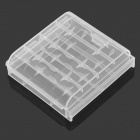 ABS AAA / AA Batteries Storage Box / Case - Translucent White