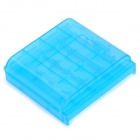 ABS AAA / AA Batteries Storage Box / Case - Translucent Blue