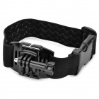 QT05D+K3 Elastic Nylon + Plastic + Stainless Steel Armband + Mount Set for GoPro / SJ4000 - Black