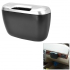 Car Ashtray Hanging Trash Can - Black + Silver