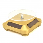 Miniisw BD-G Solar Powered 360 Degree Rotary Display Base - Golden