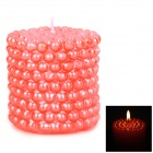 Pearl Column Style Plant Waxes Candle - Red