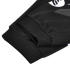 NUCKILY MH002 Outdoor Sports Cycling Long Sleeves Dacron Jersey for Men - Black + Grey (Size L)