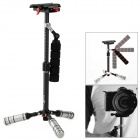 Ifootage Carbon Fiber + Stainless Steel Retractable Mini Handheld Stabilizer for DSLR - Black