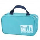 Portable Outdoor Travel Dacron Zipper Storage Bag - Blue