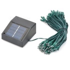 Solar Powered 0.4W 2-Mode 100 LEDs Blue Light Decoration String Lamp (1.2V / 17m)