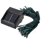 Solar Powered 0.4W 2-Mode 100 LEDs Red Light Decoration String Lamp (1.2V / 17m)