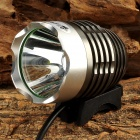 UltraFire LZ-5Z 650lm 3-Mode White Bike Light w/ Cree XM-L2 T6 + 10400mAh Power Bank - Grey + Silver