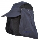 Santic C09011N Outdoor Camping Polyester 360 Degree Sunproof Hat w/ Removable Face Mask - Deep Blue