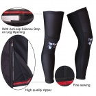 TOP CYCLING Sports High Elasticity Quick-Drying Lycra Kneecap - Black (L)