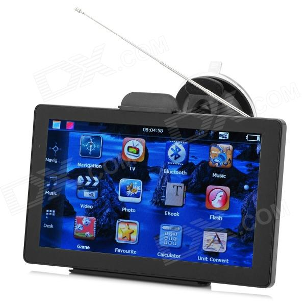 BT-706 7 TFT Resistive Win CE 6.0 Car GPS Navigator w/ 4GB TF Card / IGO Europe Map / TV - Black gps навигатор какой igo