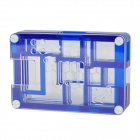 WM12 Protective 9-Layer Acrylic Case Enclosure Box for Raspberry PI - Transparent + Blue