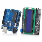 Arduino UNO R3 + Arduino LCD 1602 Keypad Shield V2.0 LCD1602 Expansion Board Building Blocks