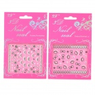 3D Cute Pattern Decorative DIY Nail Art Sticker - White + Black (2 PCS)