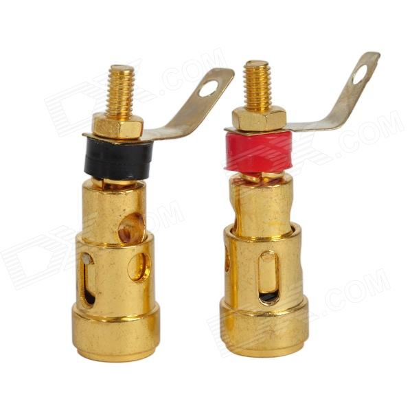 Push Type Spring Binding Post Terminal for Amplifier Audio Speaker / Instrument (2 PCS) diy audio speaker binding post terminal 10pcs