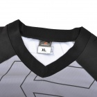 NUCKILY MH002 Outdoor Sports Long Sleeves Cycling Jersey for Men - Black + Grey (Size XL)