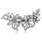 Shiying B04310 Retro Flower Pattern Zinc Alloy + Crystals Hair Clip - Ancient Silver