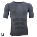 ARSUXEO Men's Outdoor Sports Quick Drying Skin-tight T-shirt - Grey (Size M)