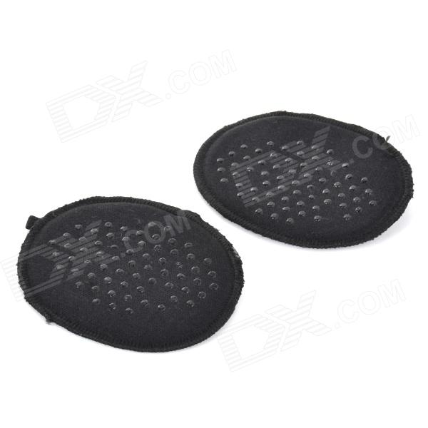 Thicken Soft High Heels Shoes Anti-slip Half Sole Pads - Black (Pair) soumi high heel shoes forefoot cushion half insole comfort for front feet relieve foot pain blisters care shoes insoles toe pads
