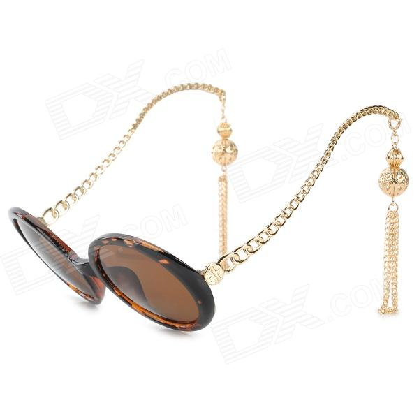 GIM.MAX A94-719 Stylish Women's UV400 Protection PC Frame Resin Lens Sunglasses - Brown + Golden от DX.com INT