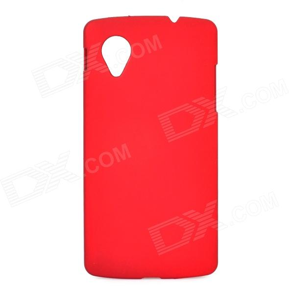 Protective PC Resin Back Case for LG E405F / Google N5 / Google Nexus 5 - Red protective silicone back case for lg nexus 5 red